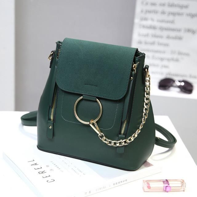 Luxury Brand Leather Backpacks Women School Bags For Teenage Girls Fashion Chain Designer Mochila Escolar Female Shoulder Bags