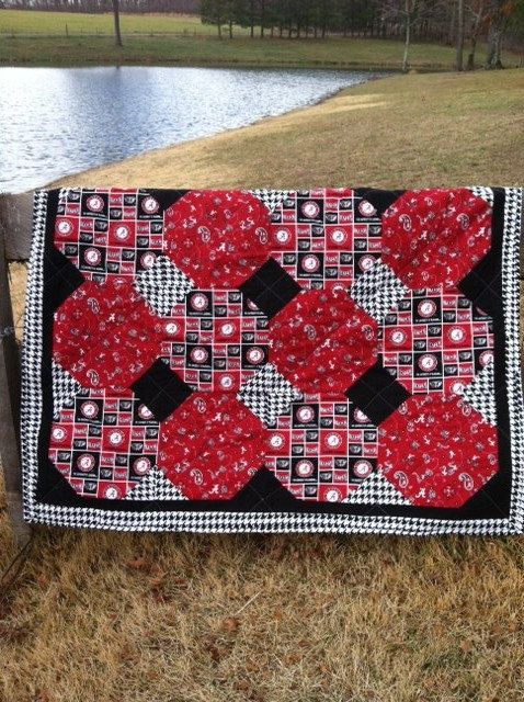 University of Alabama Roll Tide Quilt In Multi. by NeNesQuilts, $148.00