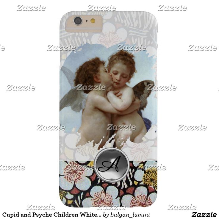 Cupid and Psyche Children White Gemstone Monogram Barely There iPhone 6 Plus Case #beauty #lovers #love #angels #fineart #flower