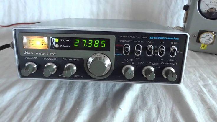 Vintage Midland 7001 Precision Series CB radio sidebander