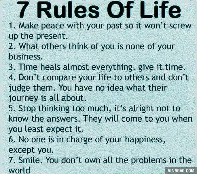 7 Rules Of Life Quote Adorable The 25 Best 7 Rules Of Life Ideas On Pinterest  For Life