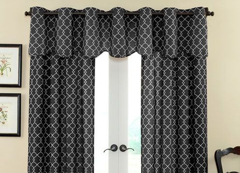 waverly curtains   This is one example of these gorgeous Waverly curtains with a valance.