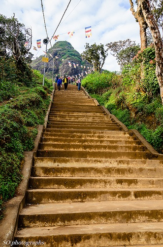steps up to Adam's Peak, Sri Lanka (www.secretlanka.com)