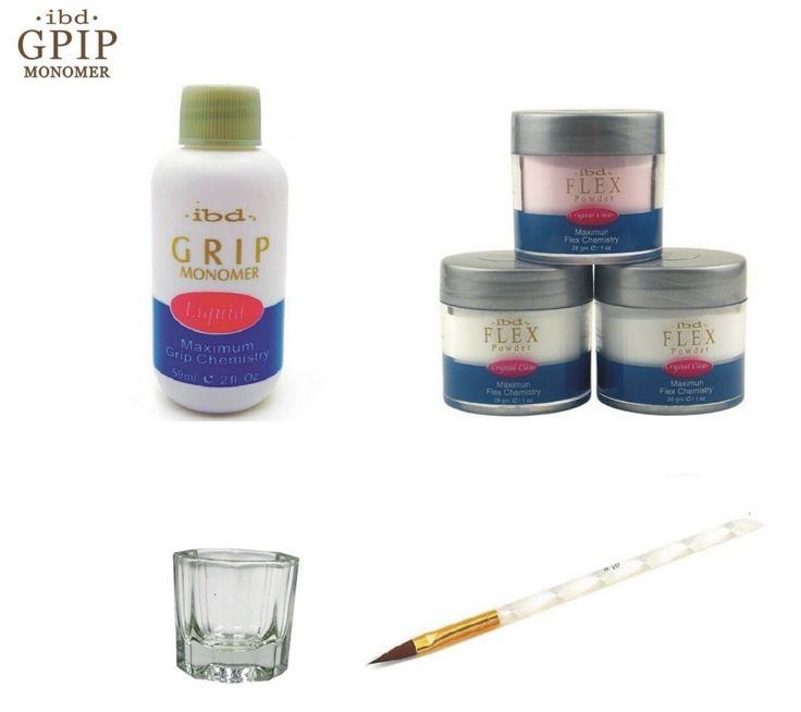 21.95$  Buy now - http://aliw7a.shopchina.info/1/go.php?t=32801916167 - Retail Nail Beauty IBD Acrylic Powder 59ml  acrylic Liquid Sable pen Brush and Glass Dappen Dish Tips Set crystal  #bestbuy