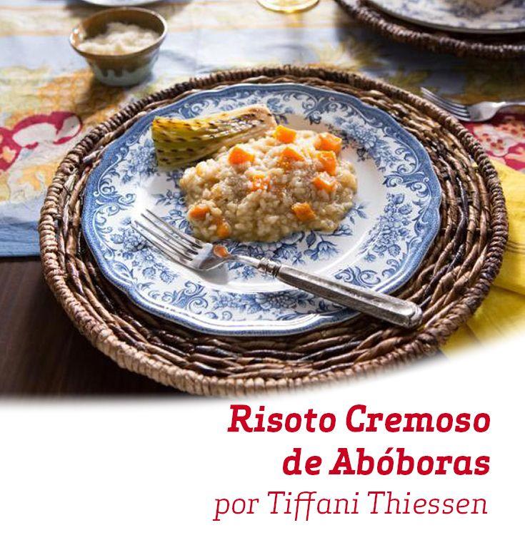 Este Risoto Cremoso de Abóboras é ótimo para um jantar delicioso num dia frio!