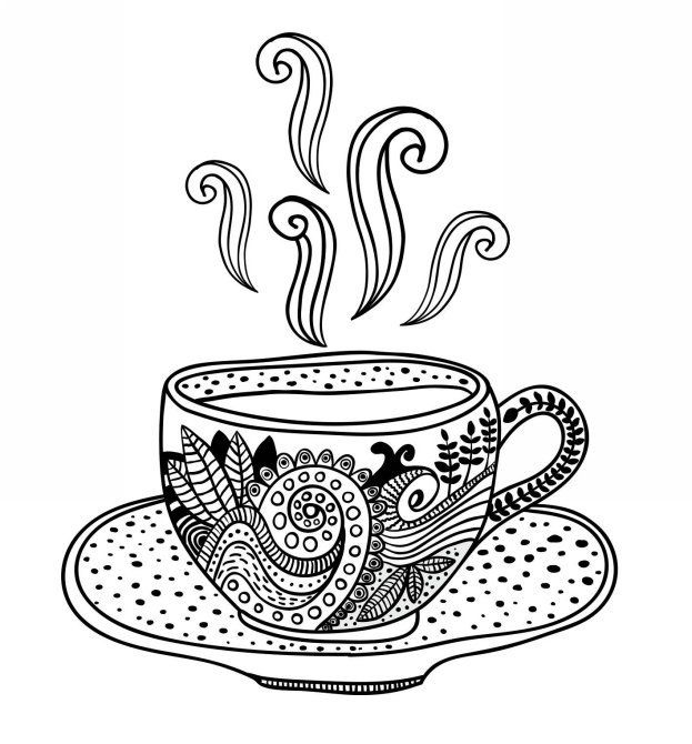 It's just a photo of Dynamite Coffee Cup Coloring Page
