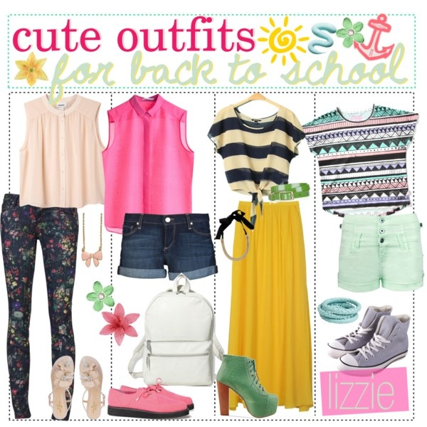 """""""Cute outfits for back to school ♥"""" by the-tip-jarxx on Polyvore"""
