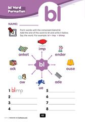 words with the letters consonant blend gl worksheets printable beginning 3649