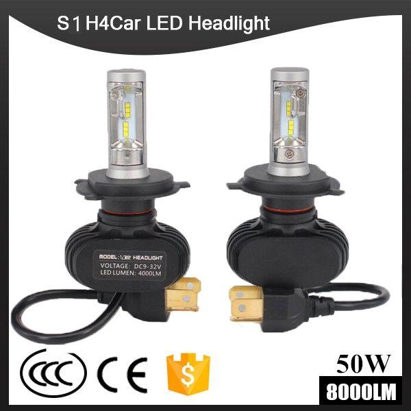 S1 CSP Led Headlights H1/H3/H4/H7/H11/H13/9005/9006 LED Car Headlight Bulb Hi-Lo Beam 72W 8000LM 6500K Auto Led Headlamp 12v 24v