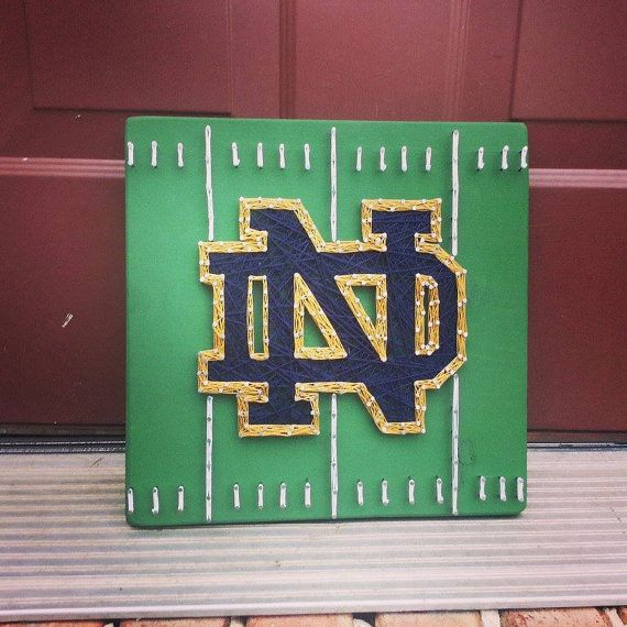 Notre Dame String Art, Notre Dame football, football field string art, ND football, unique gift, Father's day gift