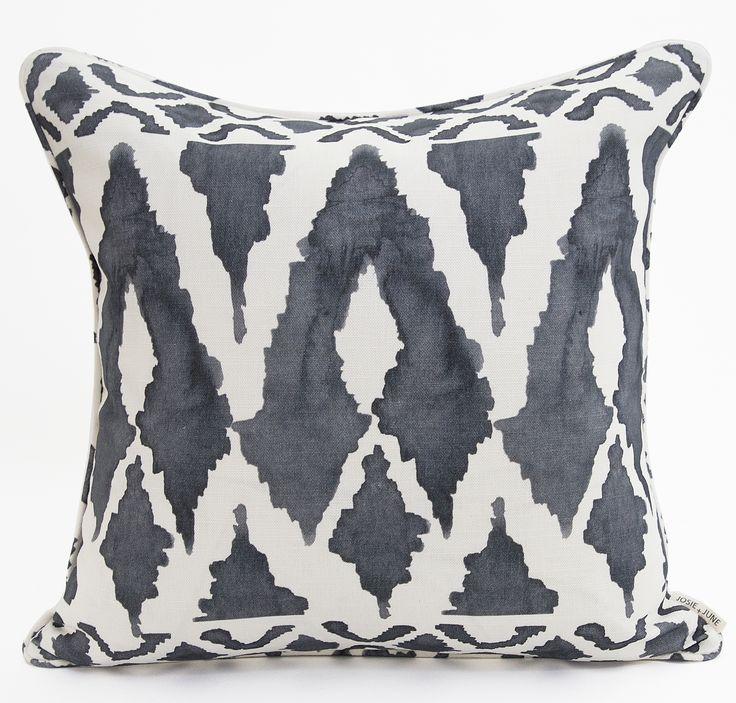 Josie and June Australian made - Linen-cotton cushions - SHOP our 'Spearheads' cushion at www.josieandjune.com Photo by The Design Villa