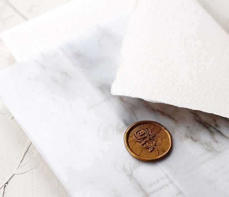 Rose Wax Seal / © PAPIRA invitatii de nunta personalizate