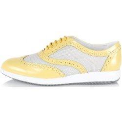Sneakers in Pelle e tessuto Primavera-Estate spence-it giallo