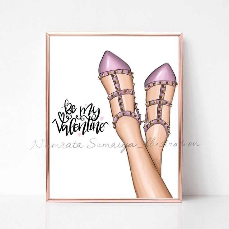Excited to share the latest addition to my #etsy shop: Be my Valentino.  (Fashion Illustration art print) happy Valentine's Day for her #art #drawing #collectibles #prints #artprint #illustration #fashionillustration #fashiongirl #digitalart