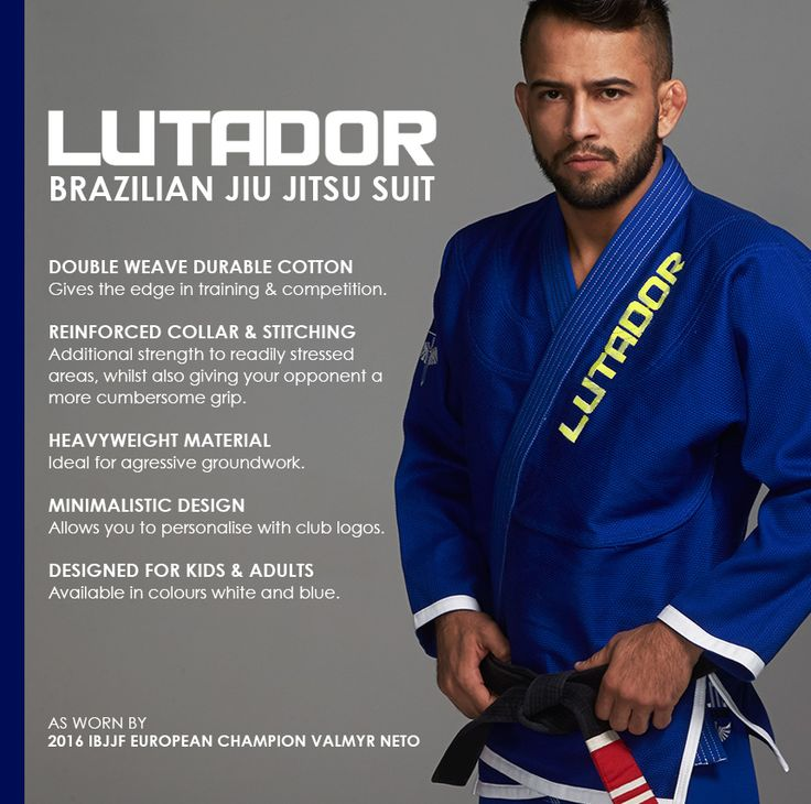Designed for kids and adults, check out our Lutador Brazilian Jiu Jitsu Suit as worn by recently crowned IBJJF European Champion, Valmyr Neto! Available from £29.99 #BJJ #IBJJFEuropean #Lutador #MartialArts #Champion #blitz #blitzsport