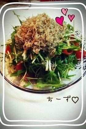 居酒屋風 水菜とカリカリじゃこサラダ♥ by ちーず♡ 【クックパッド】 簡単おいしいみんなのレシピが279万品