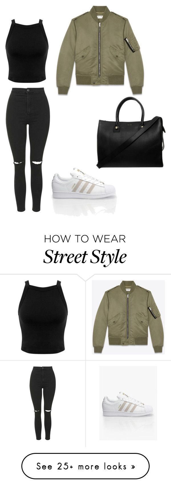 """street style"" by noemiemuslewski-1 on Polyvore featuring Topshop, Miss Selfridge, Yves Saint Laurent, Paul & Joe and adidas"
