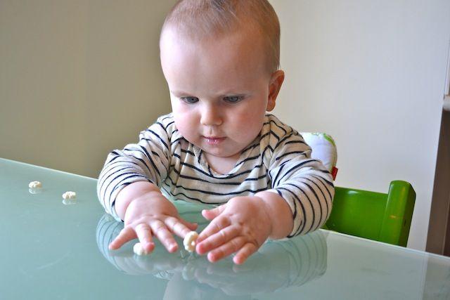 37 best montessori 5 8 months images on pinterest for Newborn fine motor skills