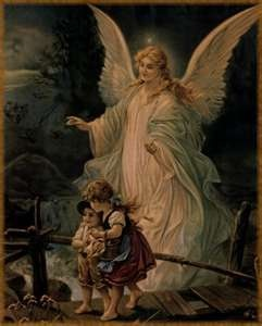this is an example of the principalities angels that guide Sagittarius- my Grandma had this painting in her house !