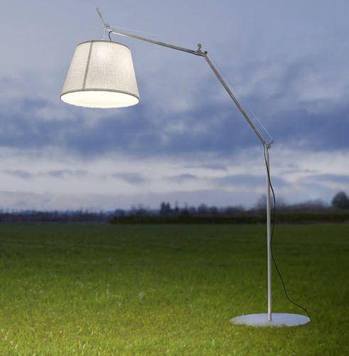 Floor-standing lamp / contemporary / outdoor / fabric TOLOMEO PARALUME Artemide