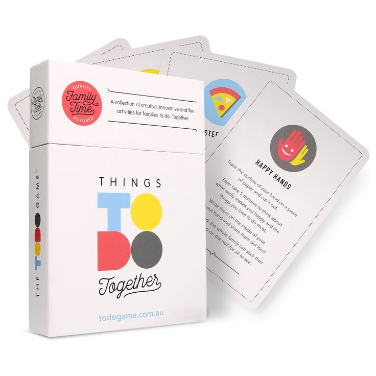 A collection of creative, fun, technology-free activities for families to do. Together.