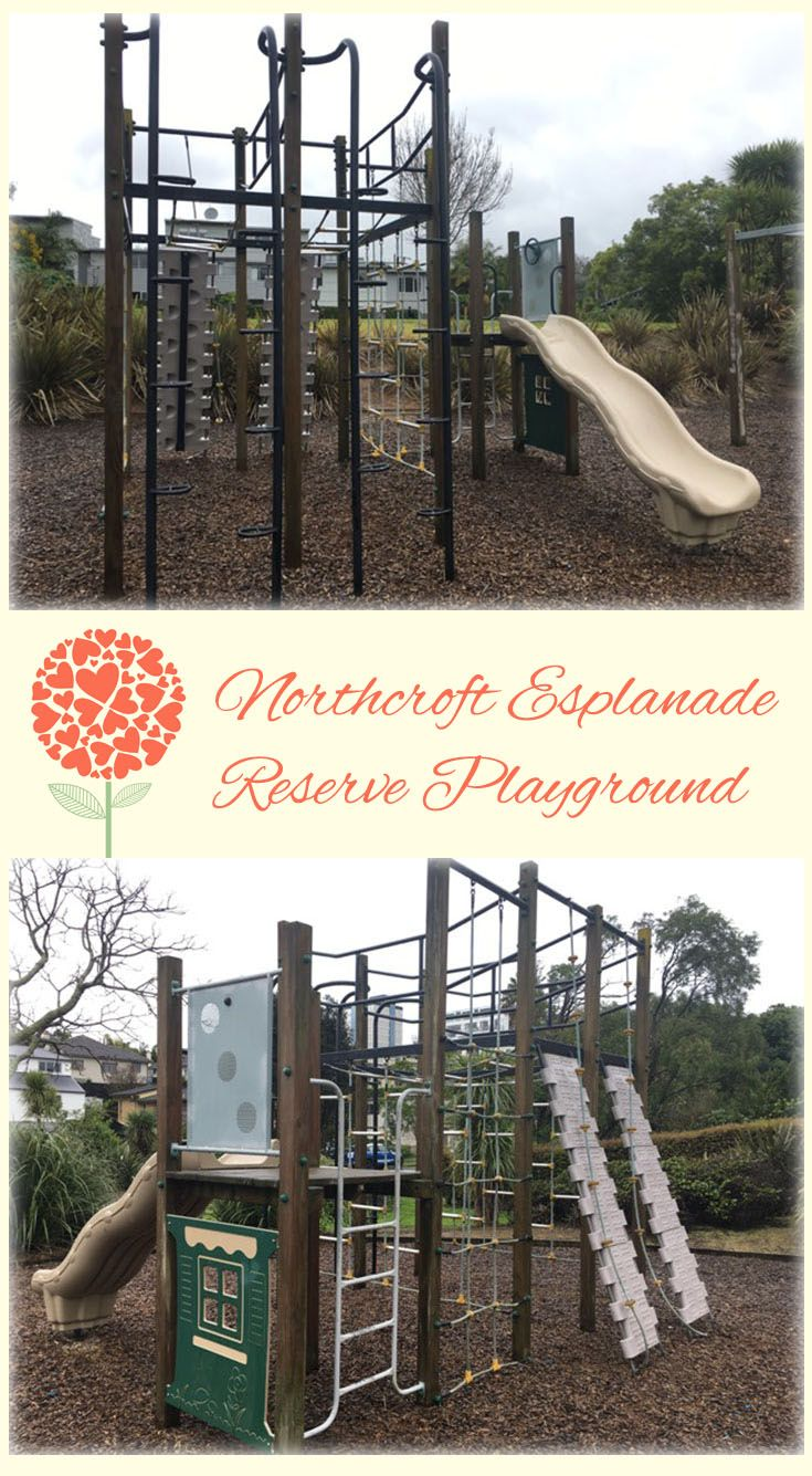 Northcroft Esplanade Reserve Playground Auckland: Sweet Little Playground Right in the Busy Takapuna Centre. Very Quiet with Lots of Climbing Opportunities!