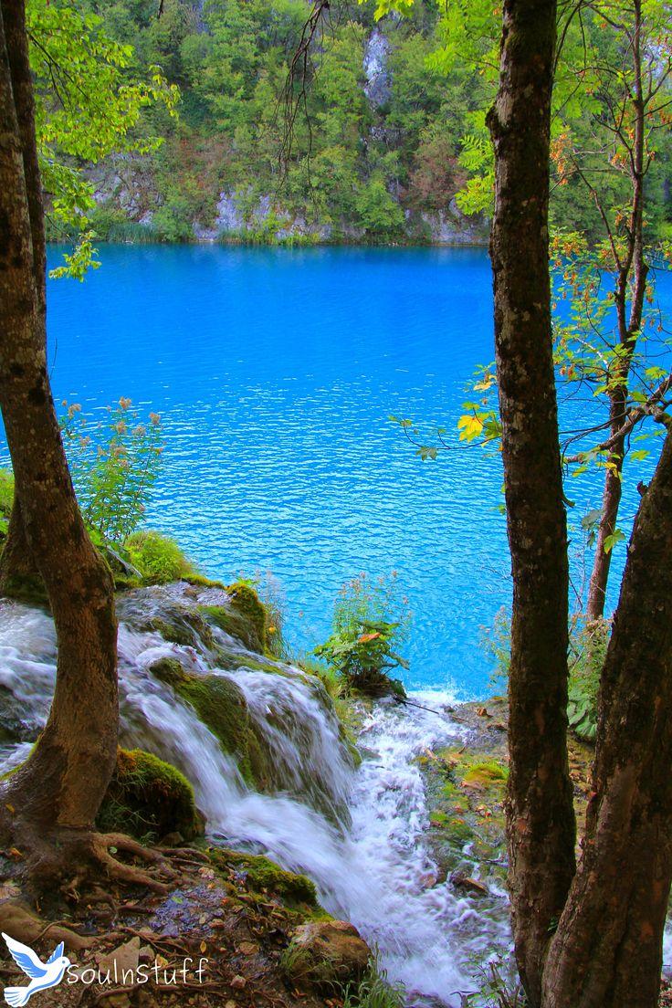 Behind blue waters