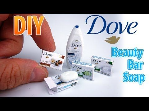 DIY Miniature Dove Beauty Bars| DollHouse | No Polymer Clay! - YouTube