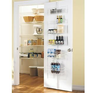 Install this elfa System inside the closet door of the baby's room for storage of lotions, bibs, extra packages of wipes, etc!