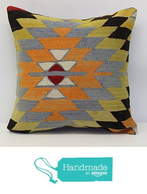 Handmade kilim pillow cover 16x16 inch (40x40 cm) Boho kilim pillow cover Home Decor Natural Pillow cover Chevron Kilim Cushion Cover