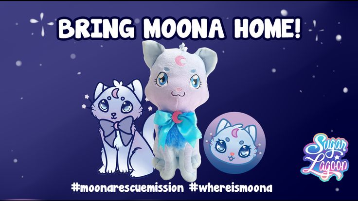 Save Moona! Bring Moonacat the plushie home