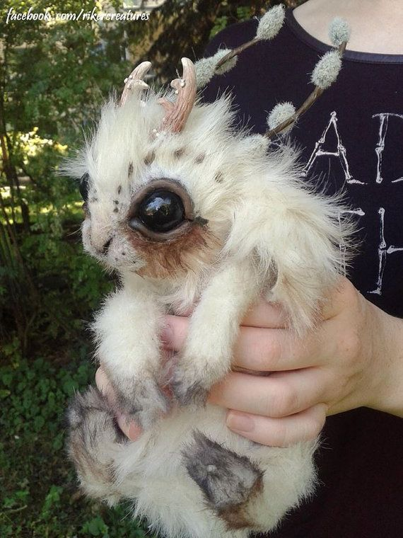 Heidi's Baby Jackalope Commission by RikerCreatures on Etsy, $140.00