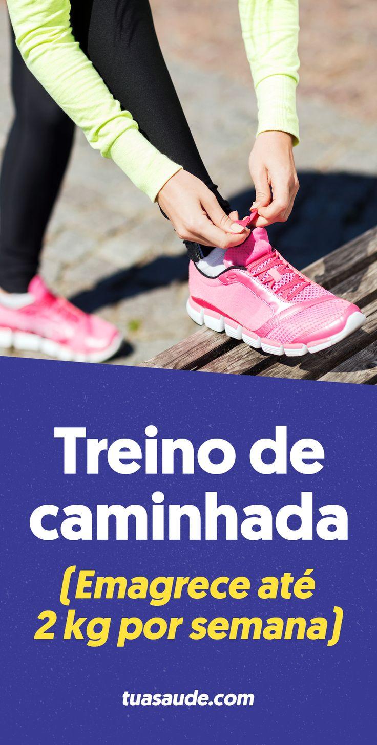 A caminhada emagrece, melhora a circulação sanguínea, a postura e colabora para perder barriga. A caminhada rápida pode queimar até 400 calorias em 1 hora, o que significa que a pessoa pode perder até 0,5 kg por semana somente com este exercício. Quando além da caminhada é associada uma dieta hipocalórica é possível perder até 8 kg por mês.
