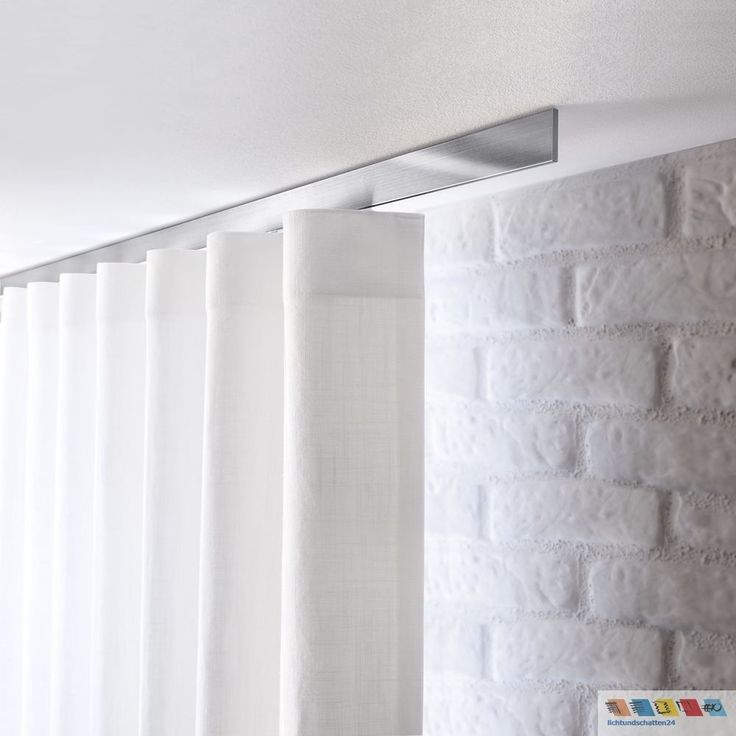 Details Zu Interstil Flachprofil Vorhangstange Aluminium Vorhangschiene Fr Deckenmontage Gardinen ModernWohnzimmer