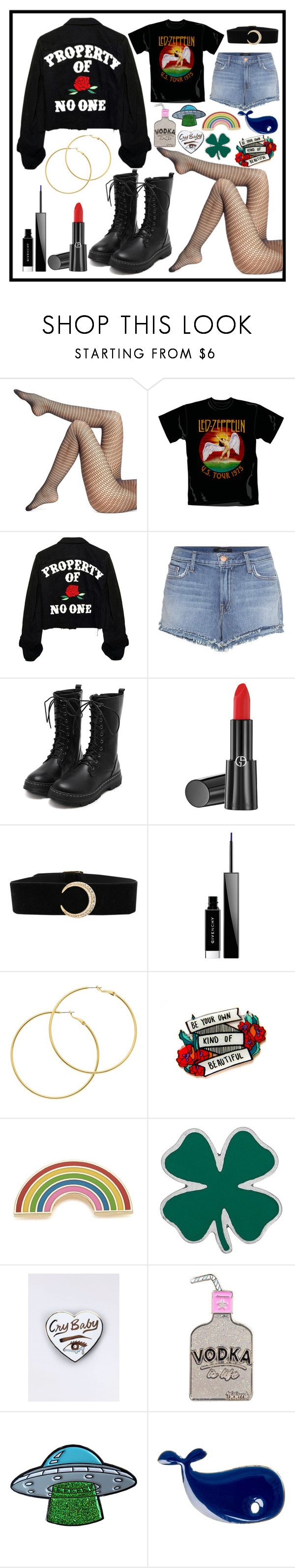 """""""PROPERTY OF NO ONE 🌹"""" by crakjow ❤ liked on Polyvore featuring Wolford, J Brand, Giorgio Armani, Givenchy, Melissa Odabash, Georgia Perry, Lucky Brand and Conran"""