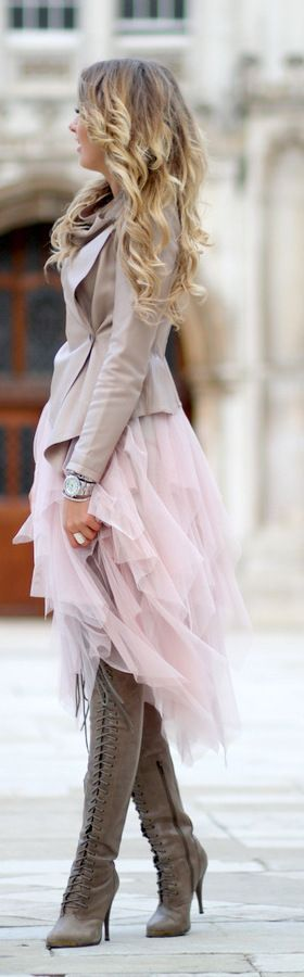 Tulle in the streets. Wish I had made the things I love more of a priority. I so would have bought this.