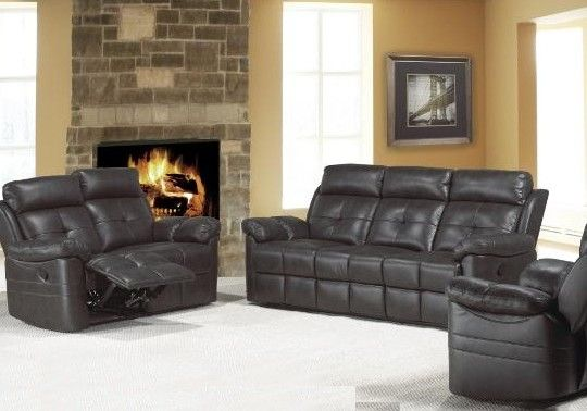 Grab this Contemporary recliner motion sofa set in a modern bonded leather only at $1399