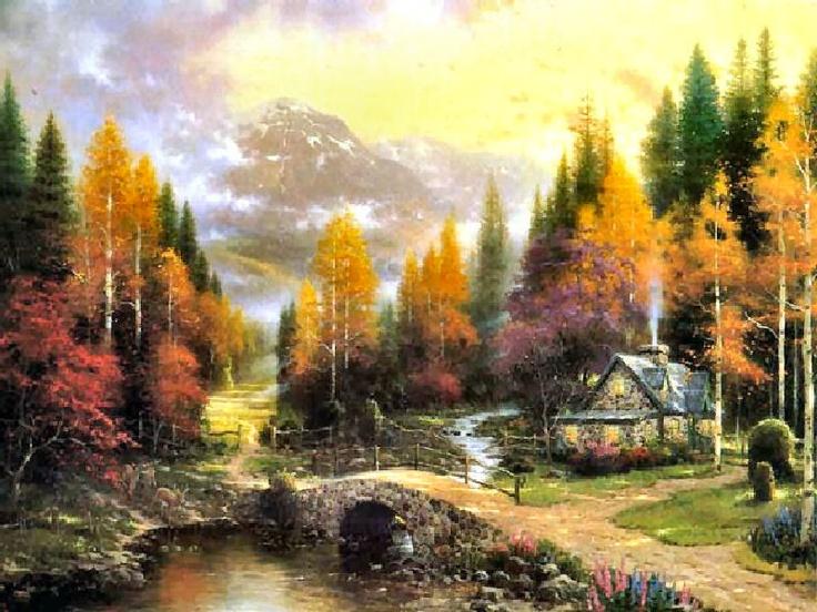 The Valley of Peace,Thomas Kinkade