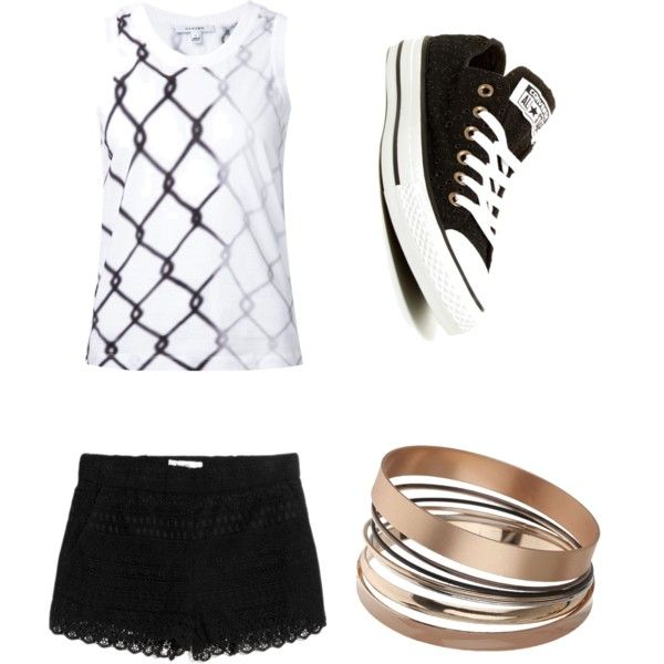 Geen titel #10 by ninavanoss on Polyvore featuring polyvore, mode, style, Carven, MANGO, Converse and Dorothy Perkins