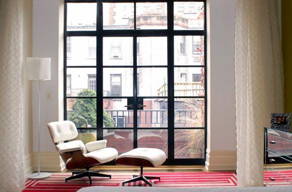 Large metal framed window