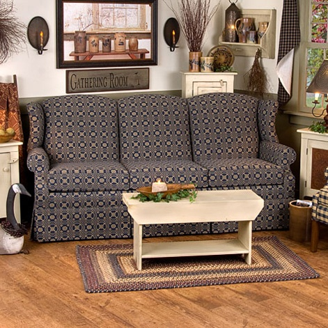 heritage sofa colonial primitive style wing back sofa 39 s and more pinterest products. Black Bedroom Furniture Sets. Home Design Ideas