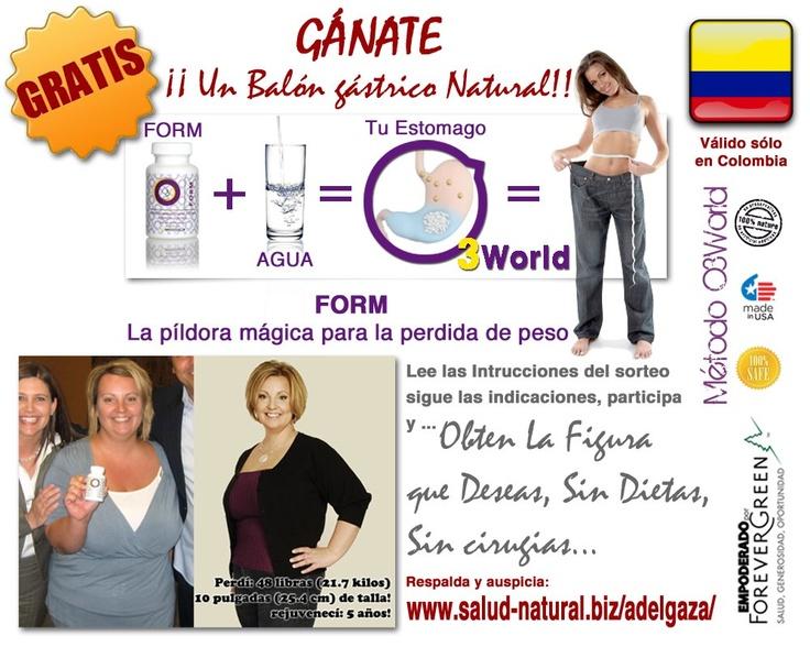 Sorteo de un Balón Gastrico Natural (http://salud-natural.biz/adelgaza/) FORM la píldora magíaca para el control de peso.    Bases y Condiciones del Concurso:    https://www.facebook.com/photo.php?fbid=454149764633618=a.321160237932572.67654.104441452937786=1_count=1