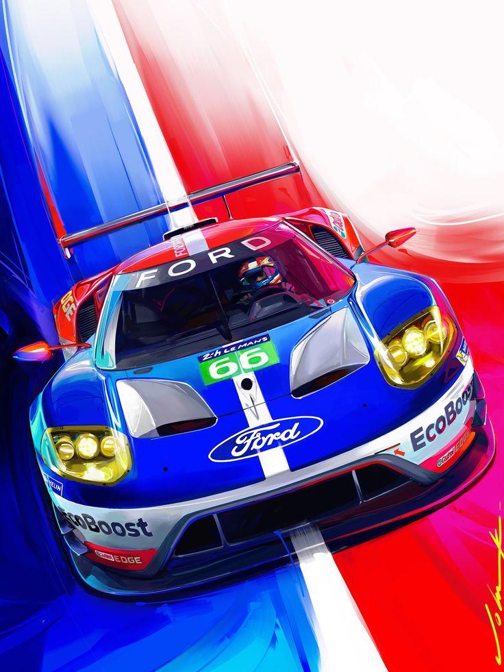 Road Track Cover Art June  Fordgt Le Mans