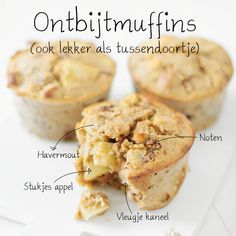 Havermoutmuffins met appel en kaneel | ontbijtmuffins Door Jennifer, 15 maart 2015
