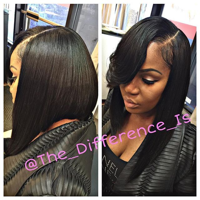 Side Part Quick Weave Asymmetric Bob Book Your Ointment With Fran Only At The Thegimmie Salon Schedule T Time From 8am 5pm Tuesd