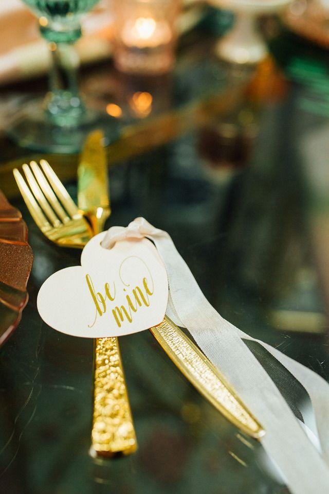 gold wedding cutlery