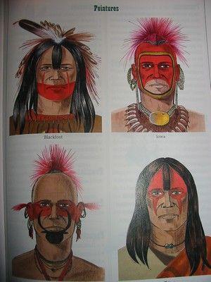 Peintures_de_guerre_indiennes (Dictionnaire des Indiens d'Amérique du Nord Casterman de Gilbert Legay)