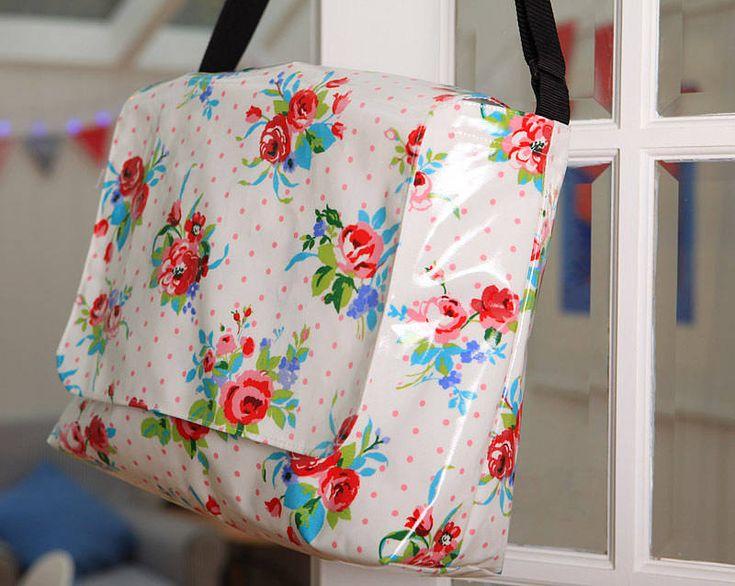 Oilcloth Vintage Inspired School Bag