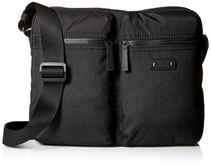 BOSS Orange Men's Saturn Messenger Zip Bag, Black