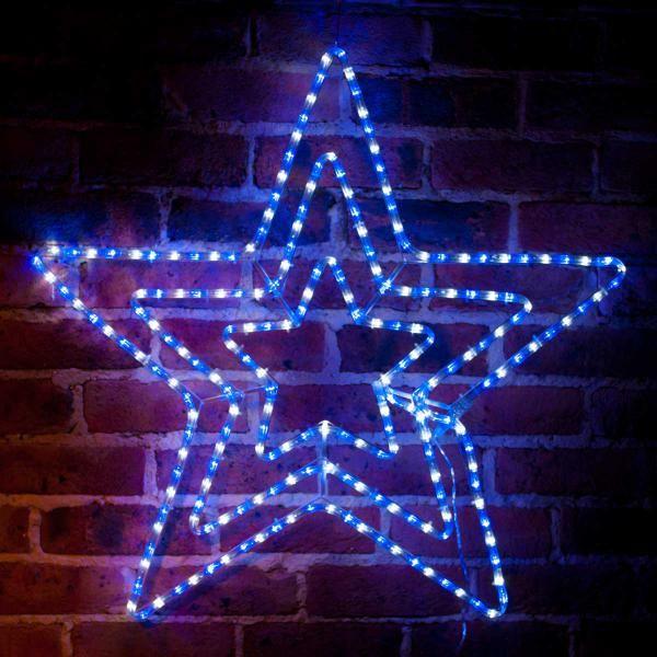 Christmas Solar LED Triple Star Light - 81cm